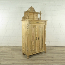 Cabinet with top Louis Philippe 1860 Pine wood