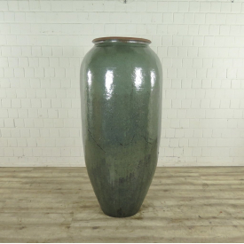 Planter Terracotta Green Ø 0,65 m