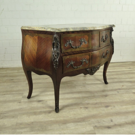 Chest of drawers new-baroque 1900 Walnut wood
