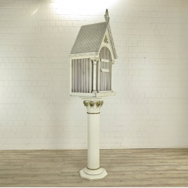 Standing Bird cage Wood  2,05 m