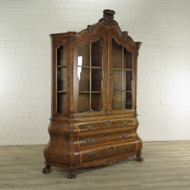Display cabinet Baroque style Oak wood