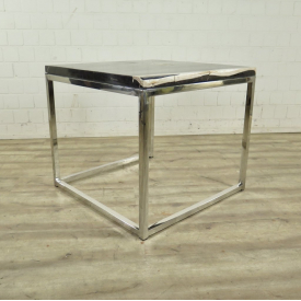 Side table/coffee table Petrified Wood 0,80 m x 0,80 m
