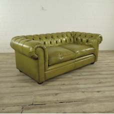 Chesterfield Sofa Couch Leder Lime 1,90 m