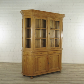 Book case Vitrine 1,69 m pine wood
