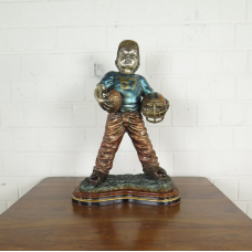 Skulptur Dekoration Kind American Football 0,62 m Bronze