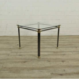 Side table Glass Metal 0,67 m x 0,67 m