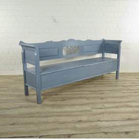 Wooden Bench Gray 2,18 m