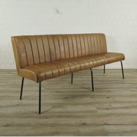 Bench Industrial Design Leather 2,00 m