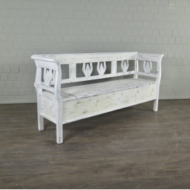 Bench Wood Old-white 1,88 m