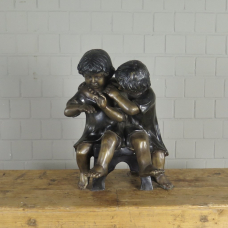 Skulptur Dekoration Kinder Bronze 0,55 m