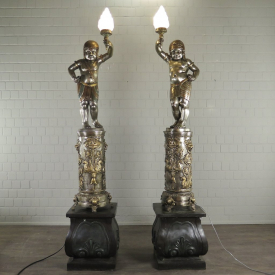 Set of Lamps Oriental Bronze 2.65 m