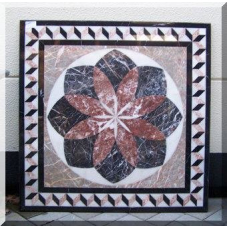 3023 Marble Plate Table Top Flower 1,00 m