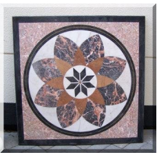 3024 Marble Plate Table Top Flowers 1,00 m