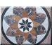 3024 Marmorplatte Tischplatte Blume 1,00 m