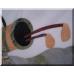 3025 Marmorplatte Tischplatte Golfspieler 1,00 m