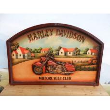8592A Schild Wandbild Harley Davidson 0.91 m