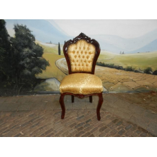 9525A Chair Gold Satin Baroque style