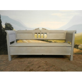 9577 Wooden bench Classic Modern 1920 Gray 1.98 m