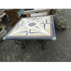 9839A Gartentisch Tisch Marmorplatte 1,00 m x 1,00 m