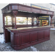14167E Bar Counter Mahogany 3.60 m