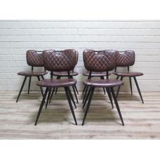 15979E Küchenstuhl Esszimmerstuhl Stuhl Braun 6 Stück