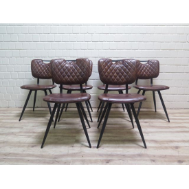 15979E Kitchen Chair Dining Chair Brown 6 Pieces